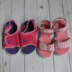Toddler girl sandal lot